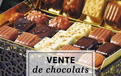 C'est parti pour notre VENTE DE CHOCOLATS !